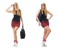 The woman with bag in fashion concept Stock Image