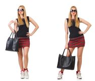 The woman with bag in fashion concept Stock Photo