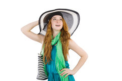 Woman with bag in fashion Stock Photos