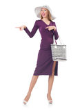Woman with bag in fashion. Concept Stock Images