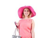 Woman with bag Stock Image