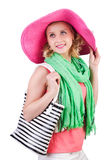 Woman with bag in fashion Royalty Free Stock Image