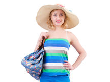Woman with bag Royalty Free Stock Photos
