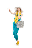 Woman with bag. In fashion concept Stock Photography