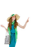 Woman with bag. In fashion concept Royalty Free Stock Image