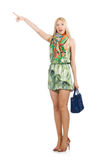 Woman with bag. In fashion concept Stock Photos