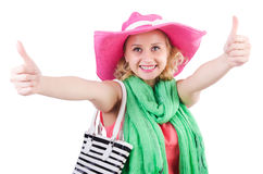 Woman with bag Stock Images