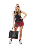 Woman with bag in fashion Stock Photography