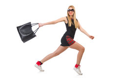 Woman with bag in fashion Royalty Free Stock Photo