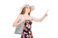 Woman with bag in fashion. Concept Stock Photo
