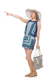 Woman with bag. In fashion concept Royalty Free Stock Images