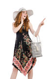 Woman with bag in fashion. Concept Stock Image