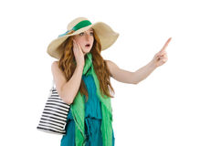Woman with bag. In fashion concept Stock Photo