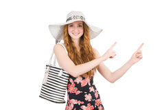 Woman with bag in fashion. Concept Royalty Free Stock Images