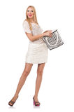 Woman with bag Royalty Free Stock Images