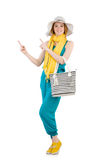 Woman with bag. In fashion concept Royalty Free Stock Photography