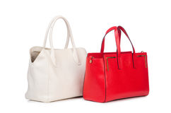 Woman bag isolated on the white Stock Images