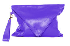 Woman bag isolated on white background blue violet color Stock Image