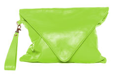 Woman bag isolated on white background bright green Stock Photo