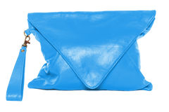Woman bag isolated on white background light sky blue Stock Photo