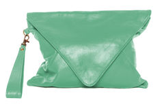 Woman bag isolated on white background sea green color Royalty Free Stock Photography