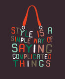 Woman bag made from quotes Stock Photo