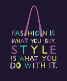 Woman bag from quote. Royalty Free Stock Image