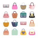 Woman Bag Set Stock Photography