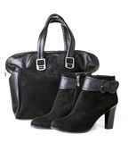 Woman bag and shoes Royalty Free Stock Photography