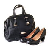 Woman bag and shoes Royalty Free Stock Photo