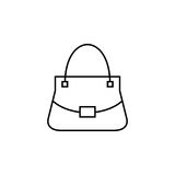 Woman bag vector icon. Woman bag line icon, fashion, luxury vector graphics, a linear pattern on a white background, eps 10 Stock Illustration