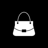 Woman bag vector icon. Woman bag solid icon, fashion, luxury vector graphics, a filled pattern on a black background, eps 10 Stock Illustration