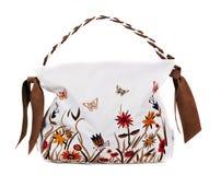 Woman bag on white Royalty Free Stock Image