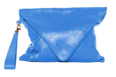 Woman bag  on white background dodger blue color. Dodger Blue colour woman bag  on white background Stock Image