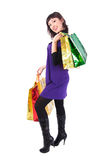 Woman with bags Stock Photos