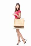 Woman with bags Stock Image