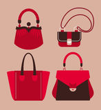 Woman bags. And purses collection vector illustration Stock Image
