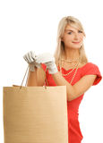 Woman with a bags Royalty Free Stock Images