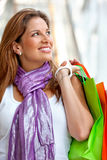 Woman with bags Stock Images