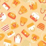 Woman Bags Seamless Pattern Royalty Free Stock Image