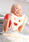 Woman baking Royalty Free Stock Photos
