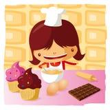 Woman baking Stock Image