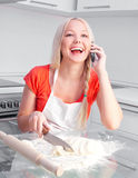 Woman baking Royalty Free Stock Photography