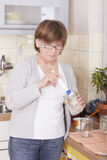 Woman baking Royalty Free Stock Photo