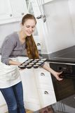 Woman Baking Stock Photo