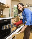 Woman baking. royalty free stock images