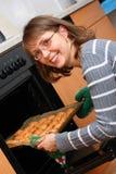 Woman baking cookies royalty free stock image
