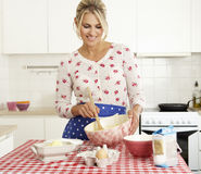 Woman Baking In Kitchen Royalty Free Stock Photography