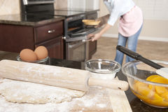 Woman baking a pie Royalty Free Stock Photo