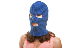 Woman in balaclava Stock Photo